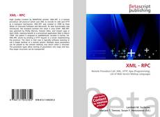 Bookcover of XML - RPC