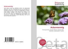 Buchcover von Ackermennig
