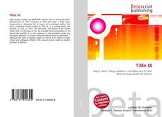 Bookcover of Title IX