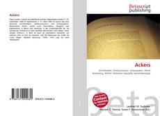 Bookcover of Ackers