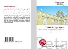 Yakov Knyazhnin kitap kapağı