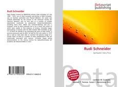 Portada del libro de Rudi Schneider