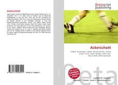 Bookcover of Ackerschott