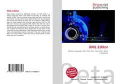 XML Editor kitap kapağı