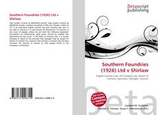 Bookcover of Southern Foundries (1926) Ltd v Shirlaw