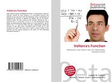 Bookcover of Volterra's Function
