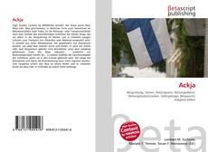 Bookcover of Ackja
