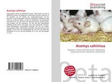Обложка Acomys cahirinus