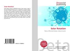 Bookcover of Solar Rotation