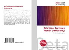 Buchcover von Rotational Brownian Motion (Astronomy)