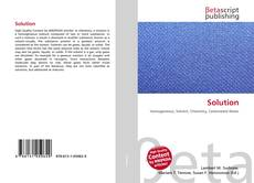 Bookcover of Solution