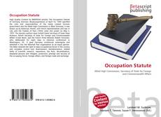 Capa do livro de Occupation Statute