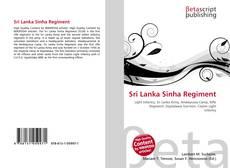 Sri Lanka Sinha Regiment kitap kapağı