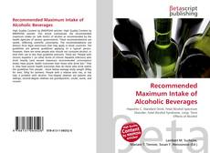 Buchcover von Recommended Maximum Intake of Alcoholic Beverages
