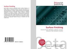 Bookcover of Surface Finishing