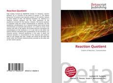Buchcover von Reaction Quotient