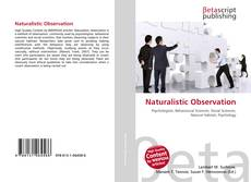 Bookcover of Naturalistic Observation