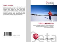 Обложка Sinikka Kukkonen