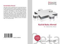 Bookcover of Rachid Baba Ahmed