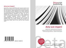 Bookcover of Acta iure imperii