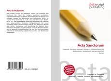 Buchcover von Acta Sanctorum