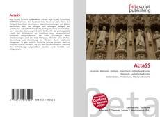 Buchcover von ActaSS