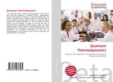 Bookcover of Quantum Thermodynamics