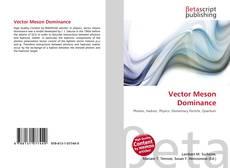 Vector Meson Dominance kitap kapağı