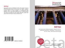 Capa do livro de Ad-hoc