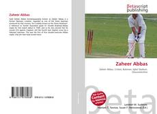 Bookcover of Zaheer Abbas