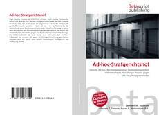Bookcover of Ad-hoc-Strafgerichtshof