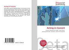 Capa do livro de Acting in Concert