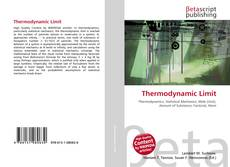 Bookcover of Thermodynamic Limit