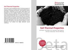 Bookcover of Soil Thermal Properties