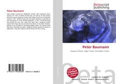 Peter Baumann的封面