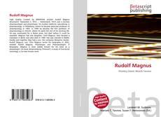 Bookcover of Rudolf Magnus