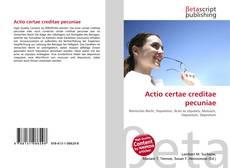 Borítókép a  Actio certae creditae pecuniae - hoz