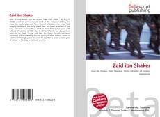 Zaid ibn Shaker kitap kapağı