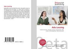 Capa do livro de Ada Lessing