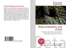 Bookcover of Philip of Montfort, Lord of Tyre