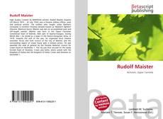 Buchcover von Rudolf Maister