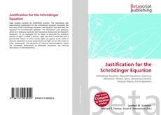Capa do livro de Justification for the Schrödinger Equation
