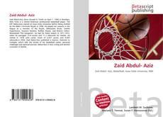 Bookcover of Zaid Abdul- Aziz
