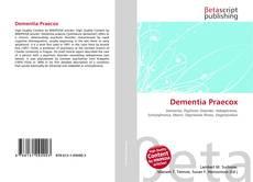 Bookcover of Dementia Praecox