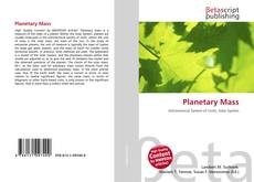 Bookcover of Planetary Mass