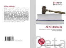 Bookcover of Ad-hoc-Meldung