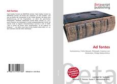 Bookcover of Ad fontes