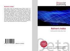 Bookcover of Rohrer's Index