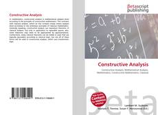 Bookcover of Constructive Analysis
