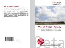 Bookcover of Vale of Rheidol Railway